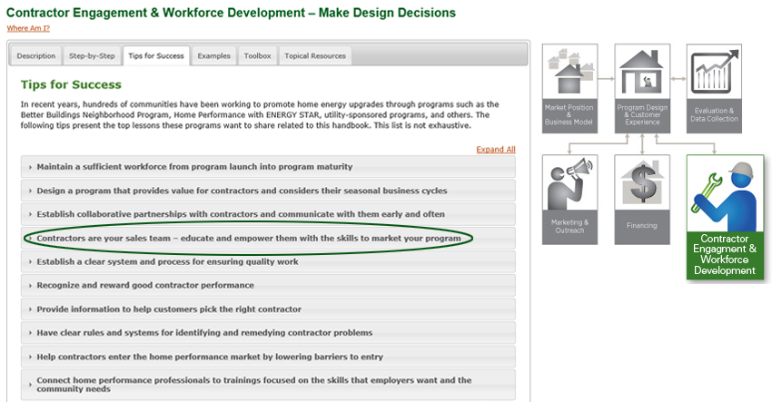 Contractor Engagement & Workforce Development - Make Design Decisions